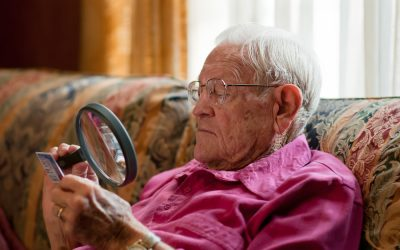 What causes vision loss as we get older?